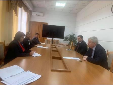 """Întrevederea conducerii Federației Sindicale """"Sănătatea"""" cu conducerea Ministerului Sănătății, Muncii și Protecției Sociale"""