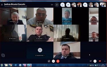 """Ședința Biroului Executiv al Federației Sindicale """"Sănătatea"""" din Moldova, 25 mai 2020"""