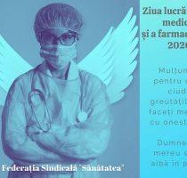 """Mesajul președintelui Federației Sindicale """"Sănătatea"""", Aurel Popovici, cu prilejul Zilei lucrătorului medical și a farmacistului"""