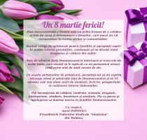 Mesajul de felicitare al președintelui FSSM, Aurel POPOVICI, cu ocazia de 8 Martie