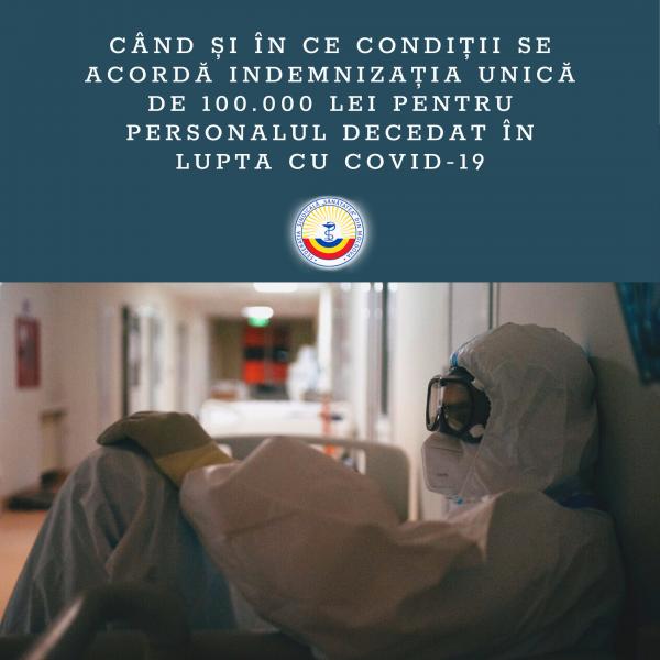 Indemnizația unică pentru personalul medical decedat în lupta cu COVID-19 aprobată de Guvern